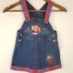 Vintage Strawberry Shortcake Overall Romper Dress